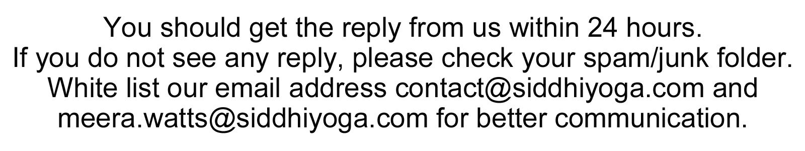 Siddhi Yoga Form Advise