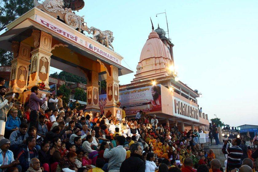 Evening Ganga Aarti at Parmarth Niketan