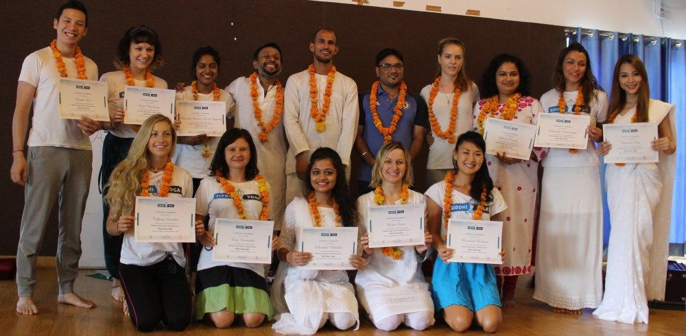 siddhi yoga teacher training graduation