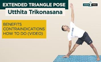 utthita trikonasana extended triangle pose