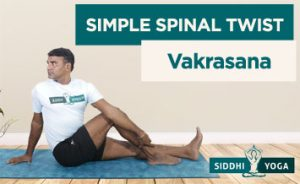 simple spinal twist vakrasana