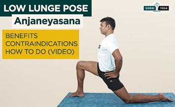 anjaneyasana low lunge pose