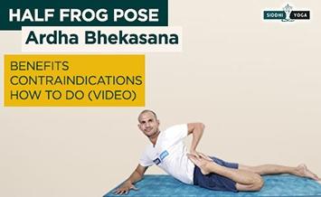 ardha bhekasana half frog pose