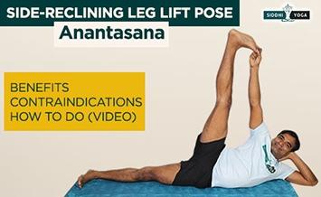 anantasana side reclining leg lift pose