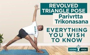 revolved triangle pose parivrtta trikonasana
