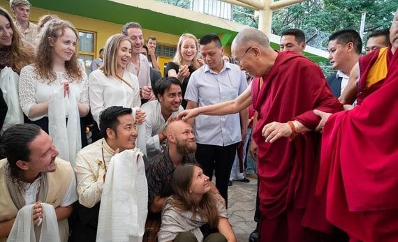 meeting with his holiness dalai lama during the yoga training