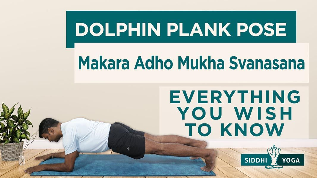 Makara Adho Mukha Svanasana (Dolphin Plank Pose)