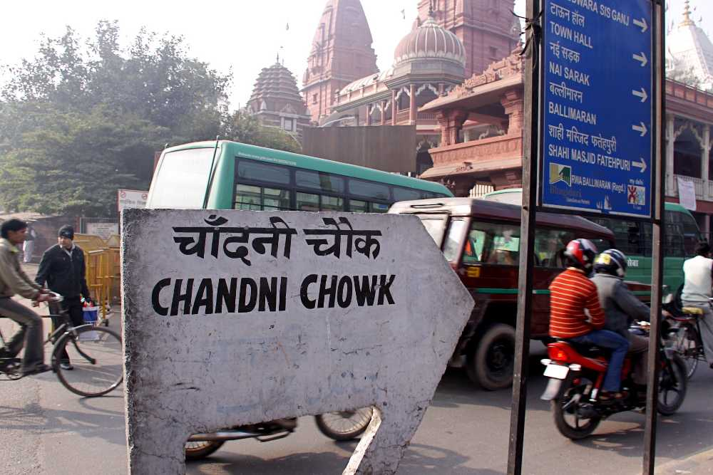 india golden triangle chandni chowk delhi