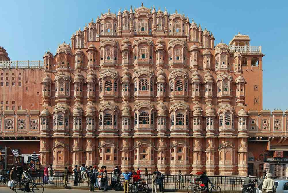 india triangle hawa mahal jaipur