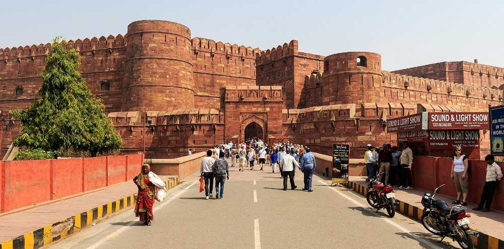indian golden triangle agra fort