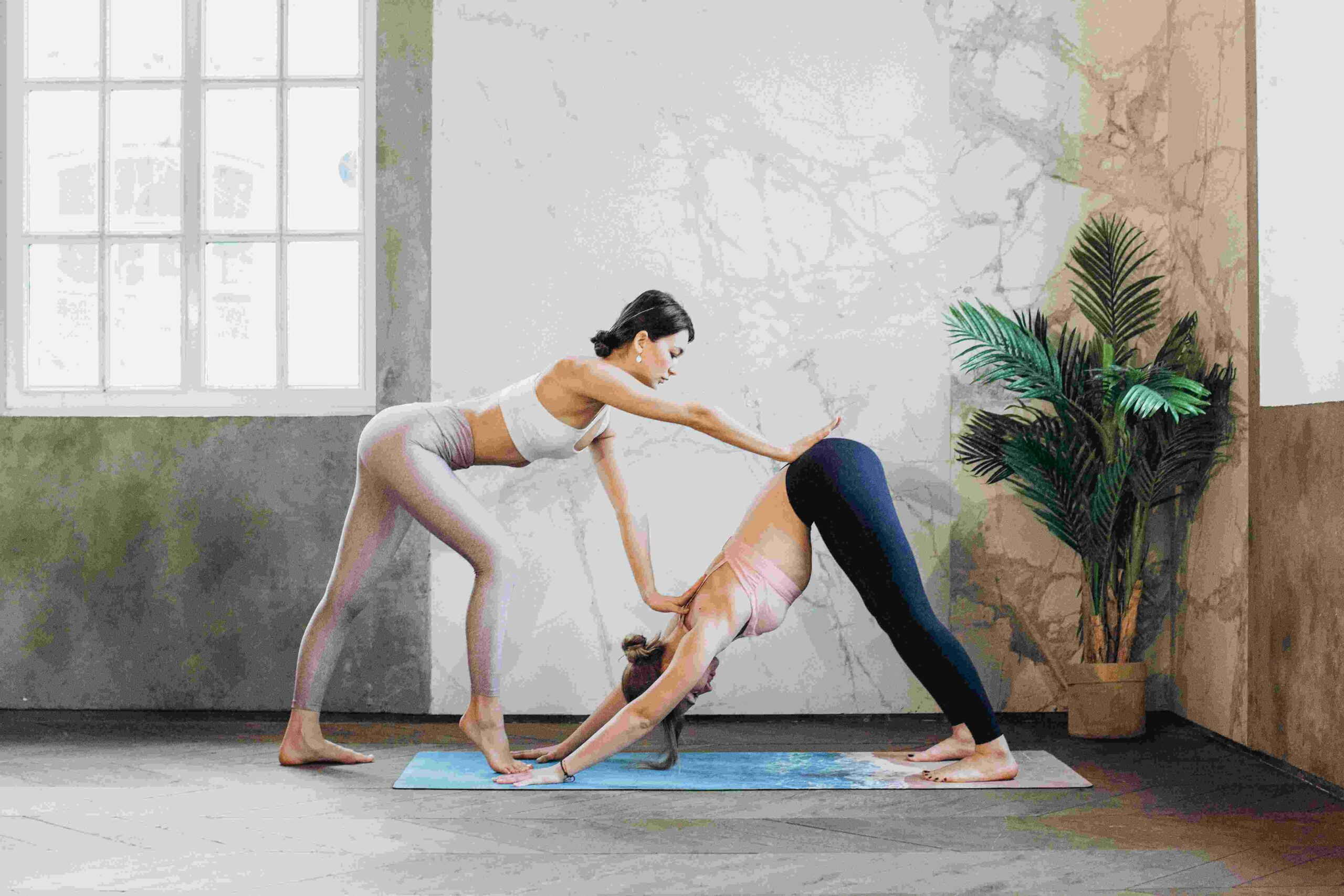 yoga challenge for 2 person
