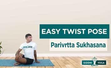 easy twist pose parivrtta