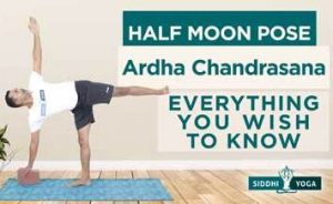 half moon pose ardha chanda