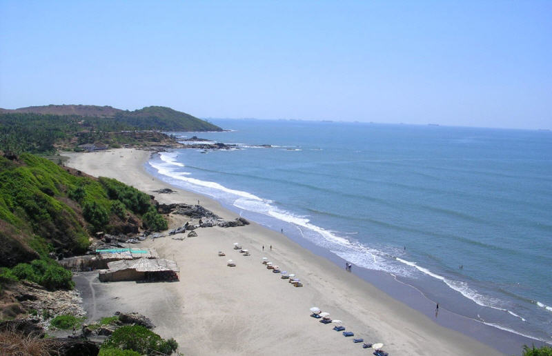 chapora beach north goa