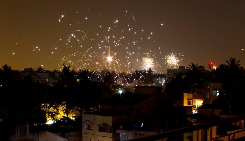 fuochi d'artificio di Diwali