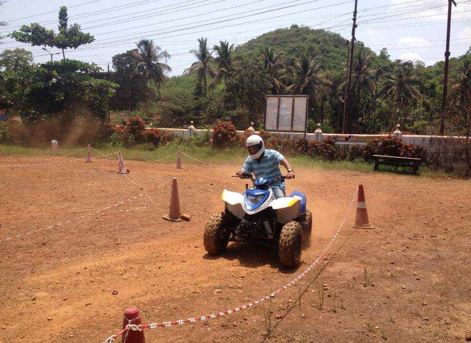 quad biking in goa atv rides