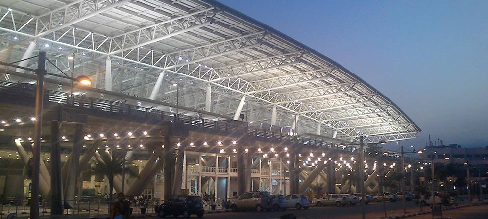 total number of airports in india chennai international airport